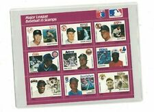 Willie Mays Mickey Mantle Nolan Ryan Grenada Stamp Plate Block of 9 W/COA