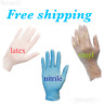 Medical Gloves Nitrile / Vinyl / Latex Disposable Powder Free 10-100 Pcs Home