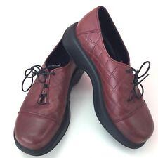 Dansko Women's Shoe Leather Quilt Check Cap Toe Oxford Lace Casual Sz 40 9.5-10