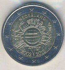 2 EURO MONETA COMMEMORATIVA 2012 Paesi Bassi contante in euro