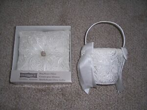 Wedding Ring Bearer Pillow & Flower Girl Basket - Excellent Condition