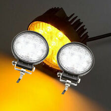 2pcs Amber 5 Inch 27W Round Cree Led Work Light Off Road Fog Grille Bumper