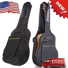 "New 41"" Nylon Padded Acoustic Guitar Soft Case Gig Bag Backpack Black mayunstore"