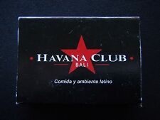 HAVANA CLUB BALI RESTAURANT AND BAR POPPIES LANE KUTA 762448 BLACK MATCHBOX