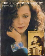 Brigitte Ariel EDITH PIAF Ken Griffiths STEVE HERR The Sunday Times magazine VTG