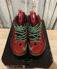 "NIKE LEBRON X 10 ""CHRISTMAS XMAS"" UNIVERSITY RED-TEAM RED SIZE 10 541100-600"