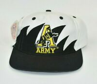 Army Black Knights NCAA Vintage 90's Logo 7 Sharktooth Snapback Cap Hat