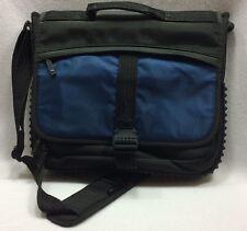 """Targus Blue Black Messenger Crossbody Bag Padded Laptop Case Tote 15"""" Rubber"""