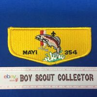 Boy Scout OA Mayi Lodge 354 S14 Yellow Order Of The Arrow Pocket Flap Patch