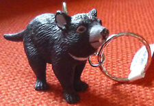 TASMANIAN DEVIL AUSTRALIAN ANIMAL SOUVENIR GIFT KEYCHAIN KEY RING Size 65mm