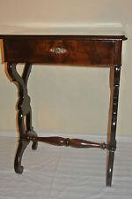 Alter Beautiful Sewing Table Table Beistelltisch-Nußbaum Biedermeier Style um