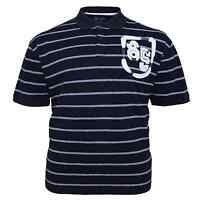 Mens KAM Big Plus Size Striped Short Sleeve Casual Polo Shirt Top 3XL 4XL 5XL
