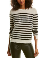 Zadig & Voltaire Source Stripe Punk 3D Strass Cashmere Sweater Women's