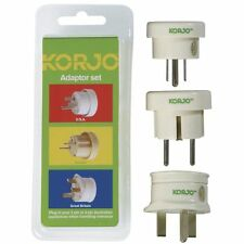 Korjo Set of 3 Travel Adapters Australia / New Zealand To UK/USA/Europe