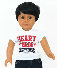 """Heart Throb in Training Shirt Boy made for 18"""" American Girl Doll Clothes"""