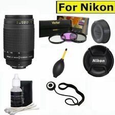 Nikon AF Zoom NIKKOR 70-300mm f/4-5.6G Lens + FILTER SET + ACCESSORIES FOR D3100