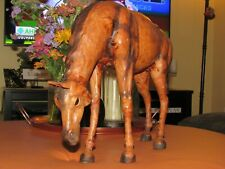 "Vintage Statue Paper Mache  Horse 20"" long 12"" tall absolutely beautiful collect"