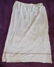 Lorraine Beige Half Slip sizeTall Small Nylon Adjustable Hem/Length Made in USA