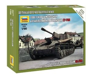 Zvezda 1/100 Soviet SU-76M Self Propelled Gun Z6239