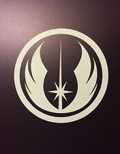 "JEDI ORDER Logo Vinyl Decal Sticker Star Wars WHITE,SILVER, BLACK 1"" 2"" 3"" 4"""