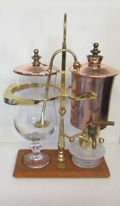 ROYAL BELGIUM VINTAGE BALANCE COFFEE MAKER 1LITRE GOLD AND COPPER FIN. ORIGINAL