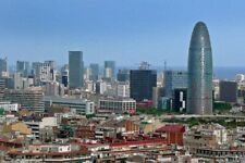 Barcelona Skyline Cityscape In Catalonia Spain Photograph Picture Poster Print