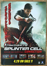 Splinter Cell Conviction RARE XBOX 360 51.5 cm x 73 Japanese Promo Poster