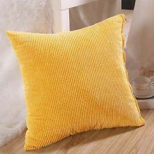 Large Plain Corduroy Cushion Cover Multi Colours Pillow Cases 40x40cm-50x50cm Q&