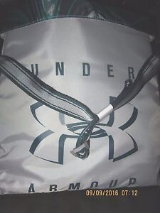 """Under Armour Youth Crossbody Gray Blue Adjustable Strap 11"""" x 2.75"""" x 11.75"""""""