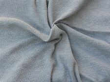 "Thermal Cotton Knit Fabric by the Yard Waffle Weave Heather Gray 62""W 10/16"