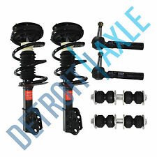 Grand Am Malibu Complete Front Struts & Outer Tie Rod Ends & Sway Bar Links