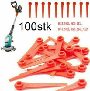 100x Kunststoffmesser Ersatzmesser für Gardena Rasentrimmer EasyCut Li-18/23R