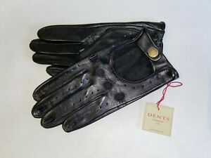 Genuine Dents Classic  leather Driving gloves  - Black - Delta