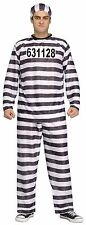 Jailbird Prisoner Convict Adult Men Costume, One Size