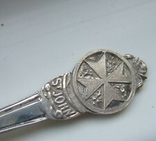 More details for solid sterling silver collectors spoon st john cross south africa hallmarked