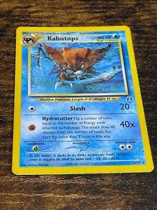 Kabutops 25/75 Rare Non Holo Pokemon Card. Neo Discovery. Light Play.