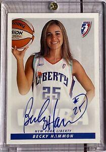 2005 Rittenhouse WNBA ON CARD AUTO Becky Hammon Liberty Jersey
