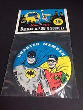 "1966 Batman Society Button - ""Un-Opened"""