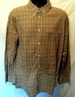 Latitude by Northern Isle Mens Shirt Sz XXL Red Blue Check L-Sleeve Button Down