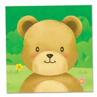 16x Teddy Bear Themed Childrens Paper Party Napkins ~ 2 ply / 33cm x 33cm.