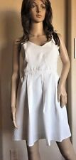 dress Very J White adj. Spaghetti straps, Pleated, Cotton, Lined NWT Sz L