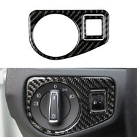 Carbon Fiber Interior Headlight Switch Cover Trim For VW Golf 7 GTI MK7 2013-17