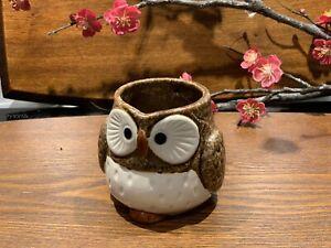 Japanese Lucky Owl Mug Brown Made in Japan