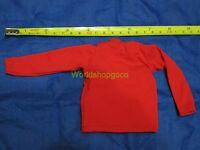 """1/6 Scale Tee Hot Red Long Sleeves T-Shirt For 12"""" Action Figure Toys"""