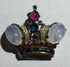 1940 TRIFARI CROWN PIN BY ALFRED PHILLIPE