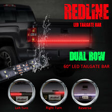 "60"" Dual Row LED Tailgate Bar Turn Signal Brake LED Light Bar Strip Truck Rear"