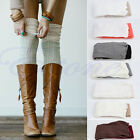 Women Long Over The Knee Socks Thigh High Soft Cotton Mixed Colors Stockings