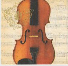 2 Serviettes en papier Musique Concerto Violon Paper Napkins Music Violin