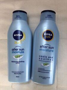 NEW - Nivea Sun - 2 x After Sun Lotion - with aloe vera - 400ml bottles