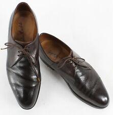 John Lobb Sz 9.5? Dark Brown Pebbled Handmade Oxford Dress 1158 Shoes 850Z